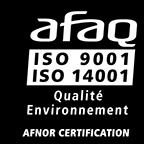 Ecologic certifié ISO 9001 et ISO 14001