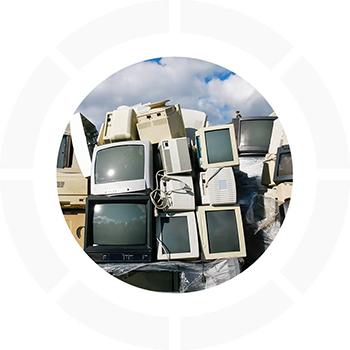 Collecte et enlevement de déchets électriques  écrans et TV